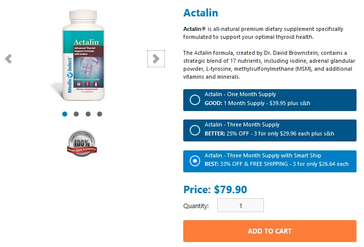 Actalin Pricing