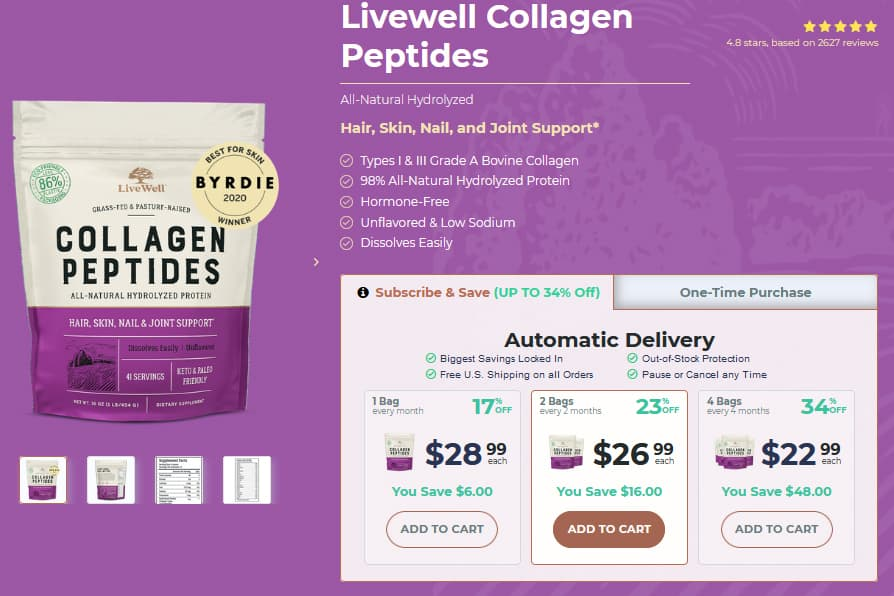 LiveWel Collagen Peptides Review