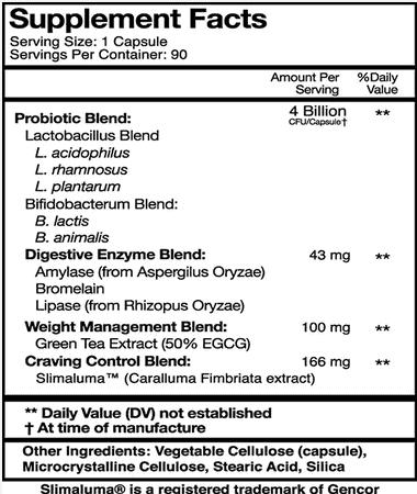 Bio X4 Supplement Facts